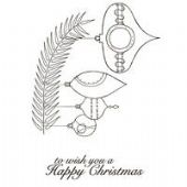 Woodware - Bauble Branch - Clear Magic Stamp Set - JGS469